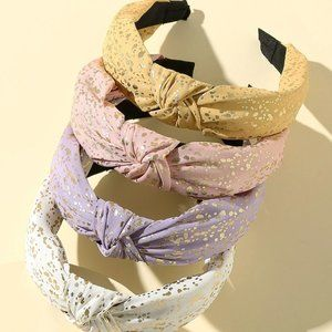 NWOT Gold-foiled Spots Headband